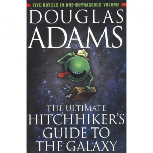 cover of Hitchhikers Guide to the Galaxy; available on Amazon.com