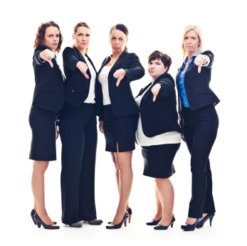Negative business women