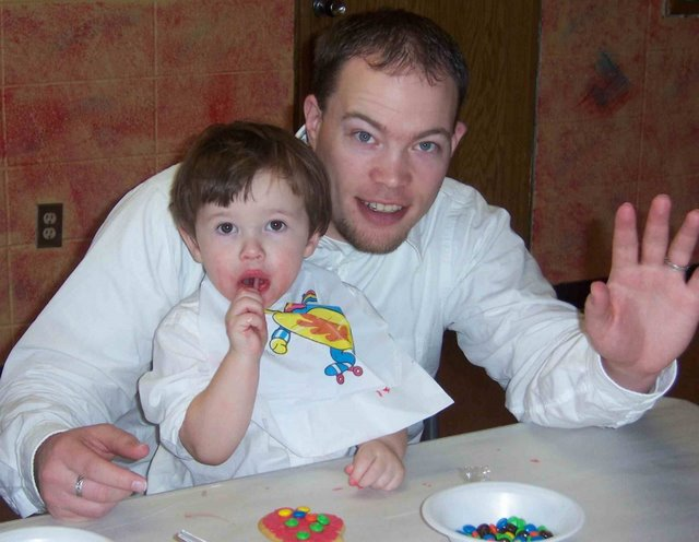 My son Mazaryk and I