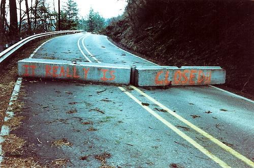 Roadblock - by Old Sarge via Flickr